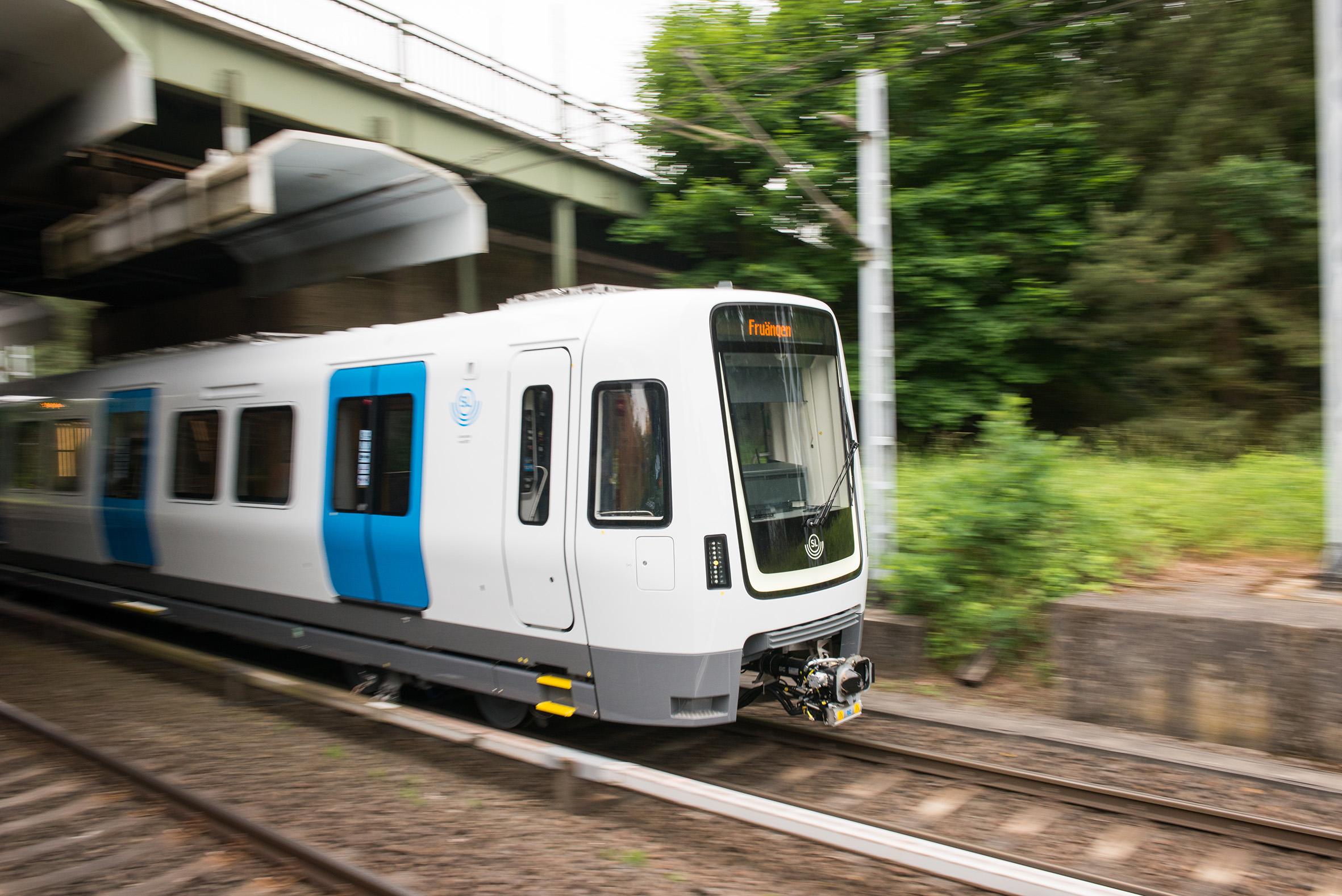 Tunnelbanetåg endast illustration