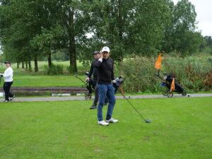 Det blev en fin dag på golfbanan trots regn.